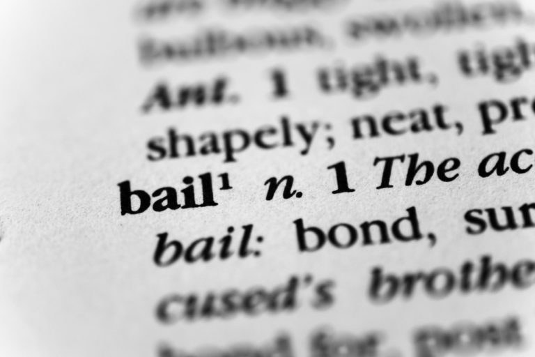 Bail meaning close up
