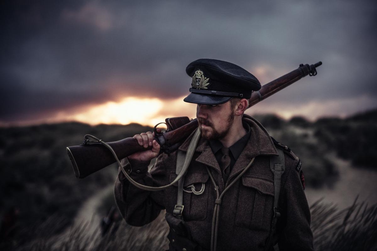 soldier in a field