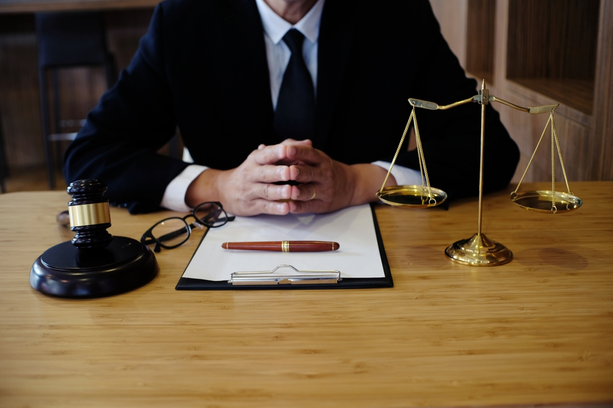 lawyer at his desk